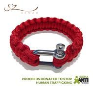 Senzu Survival Bracelet in Red - Supporting SISHA in their fight against human trafficking and exploitation. Great gift! $29