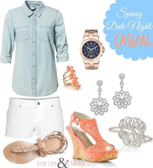 Casual Date Night Outfit for Spring #date night, #casual, #fashion, #spring, #spring fashion, #spring wear, #denim, #polyvore