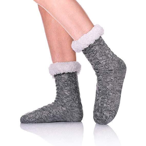 Women Men Cotton Socks Thicken Fur Fleece Lined Winter Warmer Socks Gift Fashion