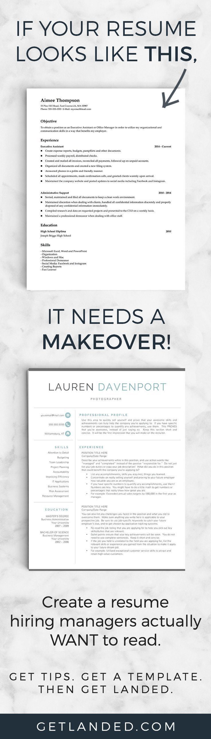 Get A Resume Makeover Today With A Resume Template And Resume Writing Tips  That Will Transform Your Resume Into Something Hiring Managers Actually  Want To ...