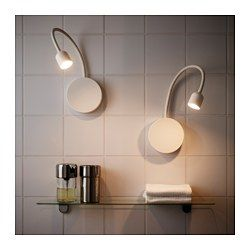 IKEA - BLÅVIK, LED wall lamp, battery operated white, , Easy to install without drilling. You can mount the lamp to the wall using the suction cup, self-adhesive backing or screws.Ideal additional lighting for activities like shaving or putting on make-up.Easy to place anywhere as it is battery operated and does not need to be connected to the main supply.Simplify your everyday life and save energy by turning your lamp off automatically with the 15-minute timer, or use the manual button on…