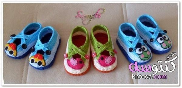 اجمل احذيه كروشيه للأطفال2019 افكار لعمل حذاء كروشيه للبيبي جزم كروشية روعه للاطفال2019 Kntosa Com 31 18 15 Crochet Baby Shoes Crochet Baby Boots Crochet Shoes