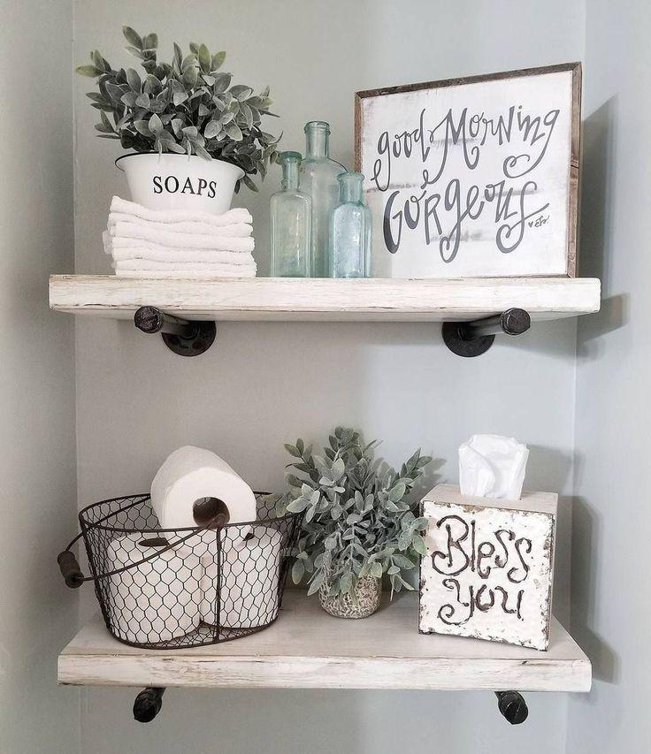 20+ Modern Bathroom Floating Shelves Design Ideas …