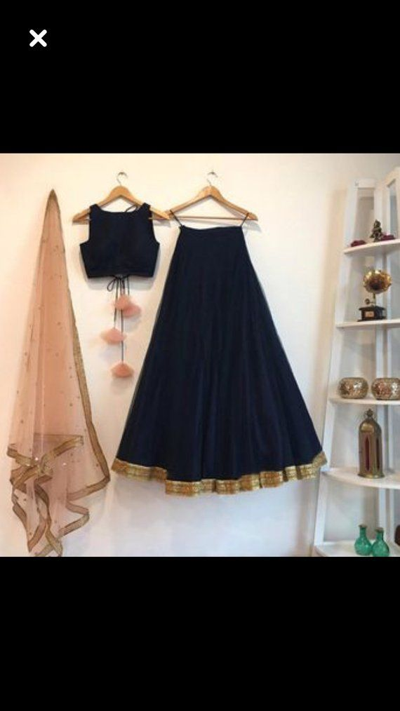 Indain-Pakistani-Lehenga-Choli-Skirt-Crop-Top-Flower-Indian-Ethnic-Lengha-Choli