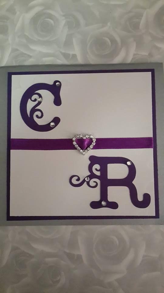 Wedding purple/silver