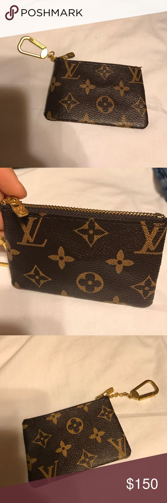 LV key monogram pouch Cute and Small Louis Vuitton keychain/pouch, perfect for holding cards or small items, open to offers!! Inspired by!! Louis Vuitton Bags Wallets