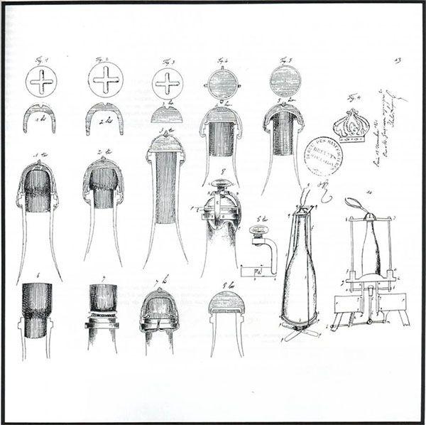croquis d'accompagnement du brevet d'invention muselet champagne jacquesson