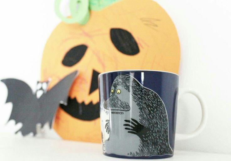 Muumimuki - Mörkö - halloween kurpitsa - lepakko - koriste