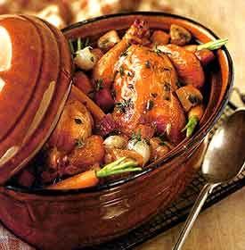 Recipe: Poussin En Cocotte (using poussins or Cornish game hens) - Recipelink.com