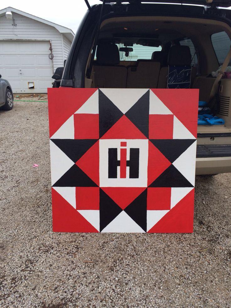 International Harvester Barn Quilt 4 foot- made by Katrina Martin