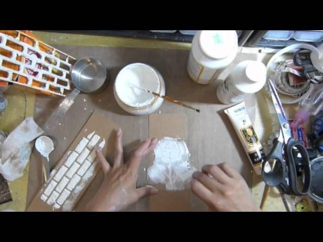 ТЕКСТУРЫ PASTE / MEDIUM: 1/2 стакана пищевой соды 2 столовые ложки белого клея ПВА 1-2 столовые ложки белой акриловой краски (Часть воды,если необходимо.)