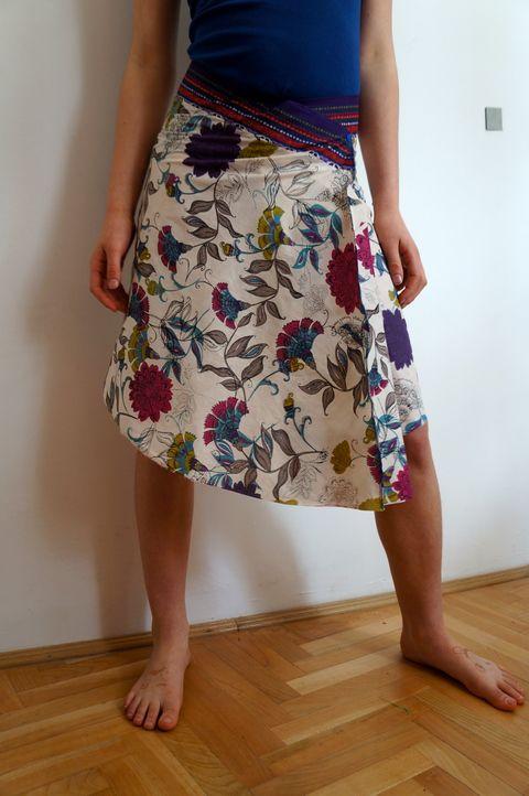 Indiai virágos szoknya, Ruha, divat, cipő, Női ruha, Szoknya, Meska