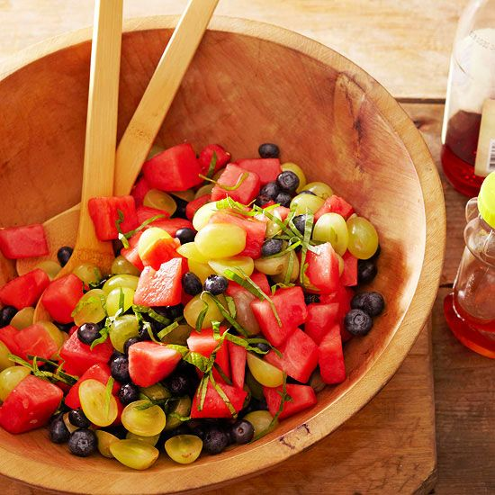 Spinach salad got you down? Pile your plate with a fresh fruit salad instead!