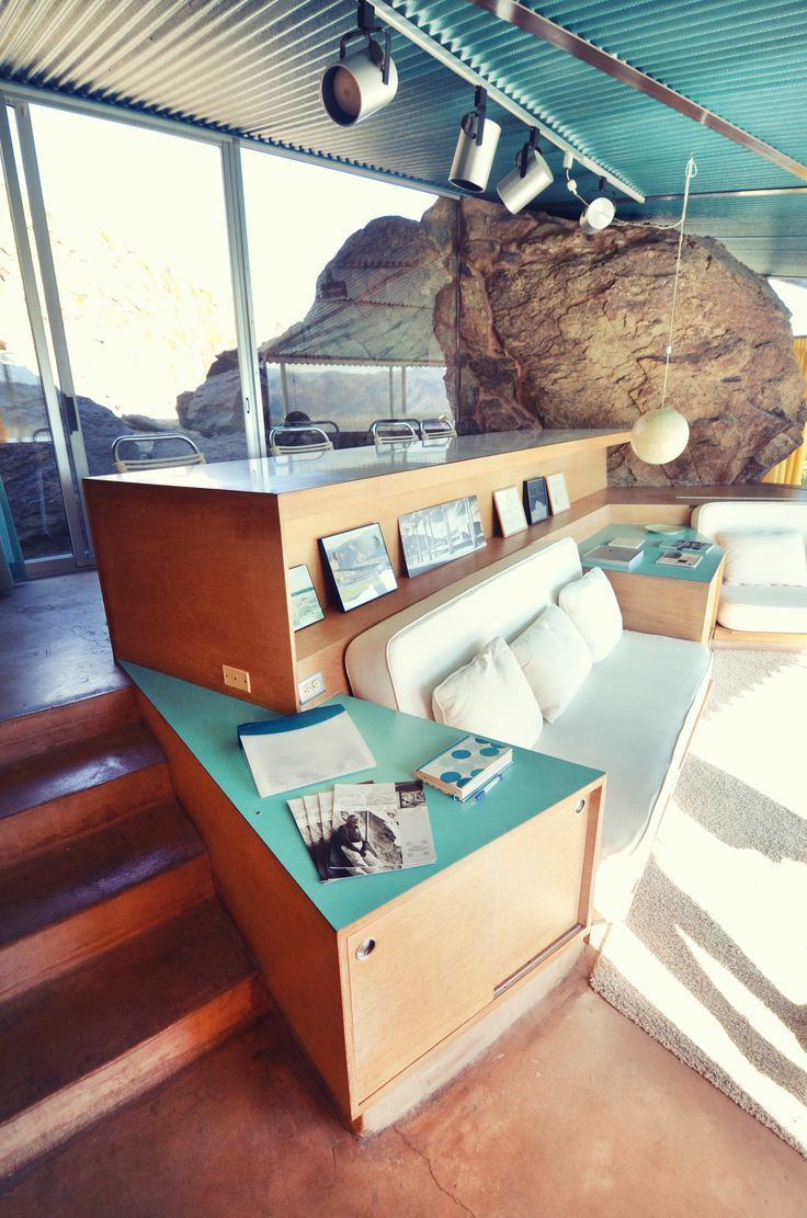 1963 Albert Frey Palm Springs, CA.love the sunken living roo, especially if it faced towards a fireplace or a wall of windows opening to outside.