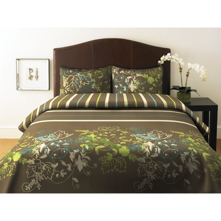 Brown And Green Bedroom Ideas: 9 Best Green Bedding Images On Pinterest