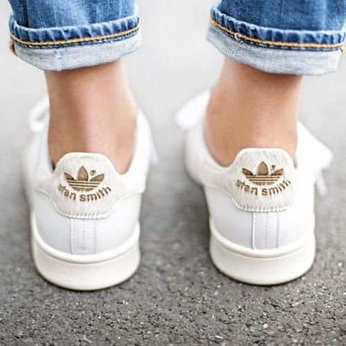 adidas stan smith mujer gold