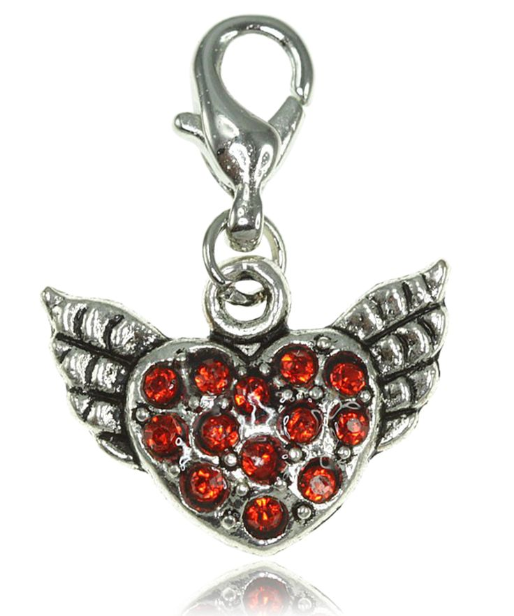 Breloque charm coeur rouge - So Charm