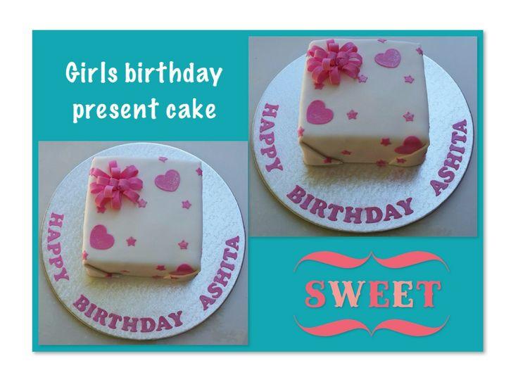 A pink birthday present cake by Suga Suga Cupcakes