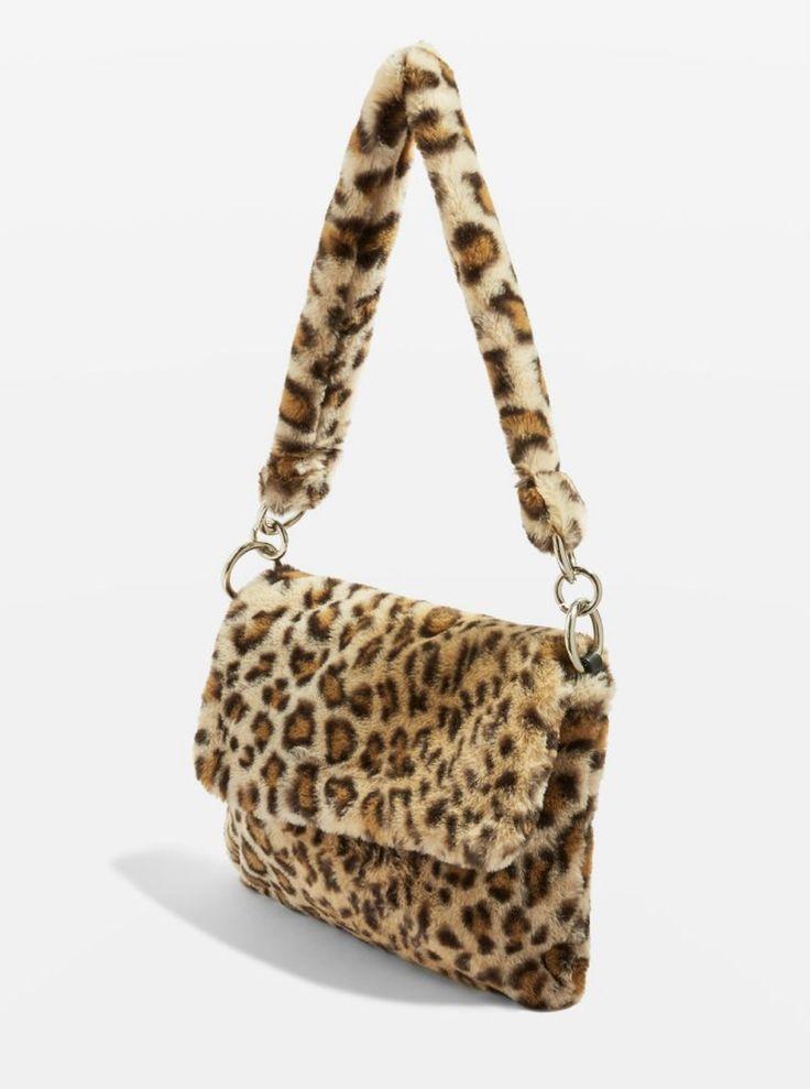 Leopard Pattern Faux Fur Shoulder Bag – quinn