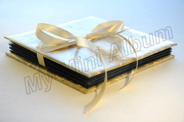 by Maria S.  Diamond fold mini album, black inside