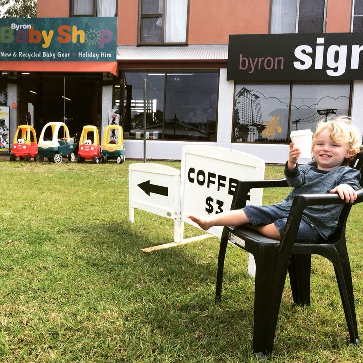 $3 coffee at Byron baby shop at 2/1 centennial circuit Byron bay.  Perfected by our qualified barista please come to Byron bay head down Bayshore drive and try Byron baby shops delicious  full bodied coffee.  Creamy Hot  chocolate Fluffy baby-chino Spicy chai Oh and yes we have decaf.  So if your in Byron bay and looking for a coffee Byron baby shop is the place to be.  Bring your kids and they can play in our toy area. #byronbabyshop #byronbay #coffee #cheapcoffee #barista #delicious #crema