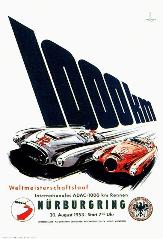 1953 Nürburgring Poster-http://www.fromupnorth.com/design/92726/1953-nurburgring-poster/