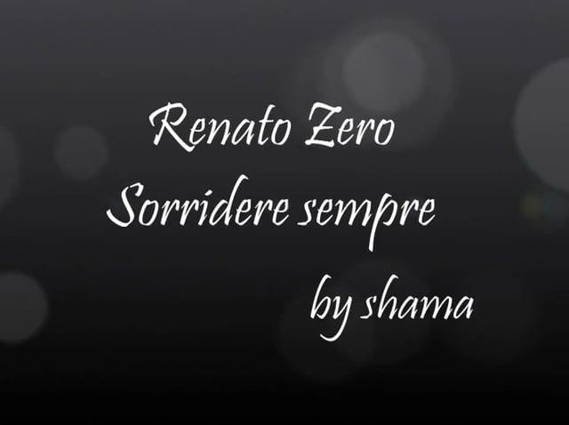 Renato Zero - Sorridere sempre *