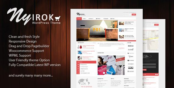 Nyirok is a stunning, clean and fresh WordPress Theme. This templates easily fits for any kind of website demographics.Aside from just looking beautifully polished and clean, it comes packed with features and options,Nyirok is a responsive theme and optimized for tablet and any others mobile screen. So, If you're looking for a fresh new WordPress Theme,than look no further.