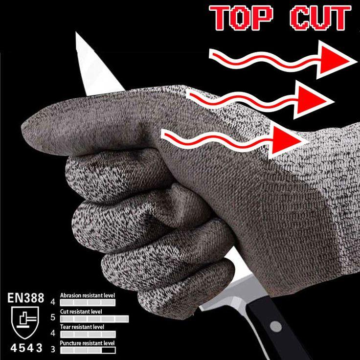 NMSafety Travail Résistant À la Coupure Gant Verre Remise Boucher Du Travail Gant HPPE Anti Cut Gants De Sécurité