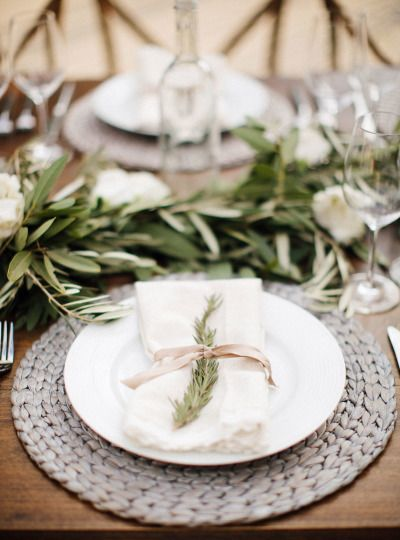 Beautiful place settings: http://www.stylemepretty.com/living/2014/11/12/al-fresco-wine-and-cheese-dinner-party/ | Photography: Steve Steinhardt - http://stevesteinhardt.com/