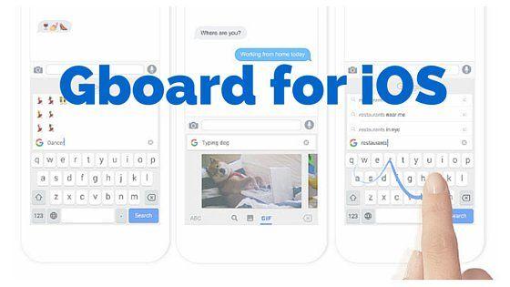 Google ha lanzado un nuevo teclado para iOS, llamado el Gboard , lo que le permite la búsqueda de Google para las consultas, GIF, emoji, y más...