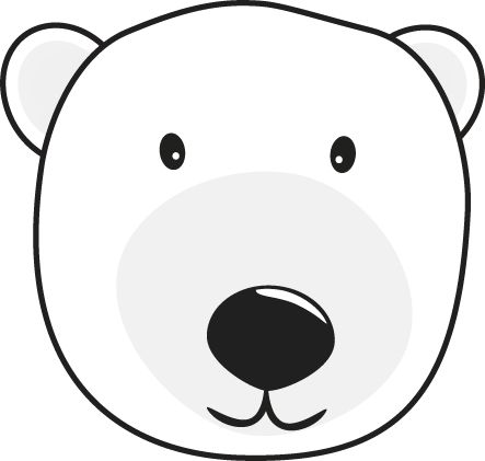 1212 best winter crafts images on pinterest coloring for Polar bear face template