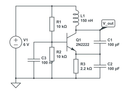 colpittsoscillator u202c circuit is one of a number of designs for lc oscillators  electronic