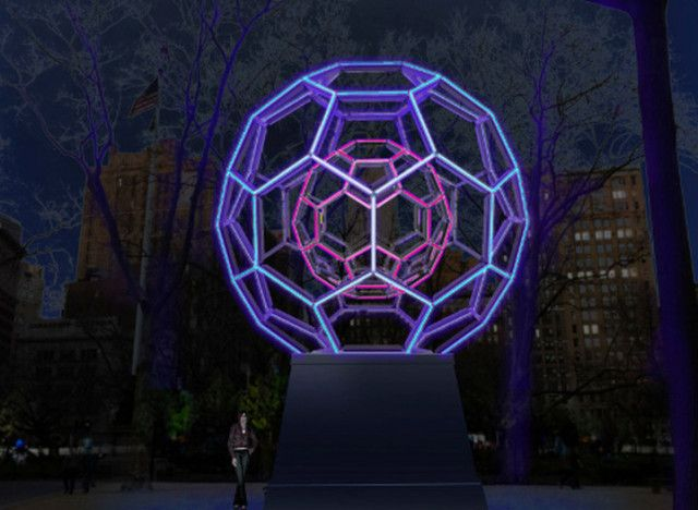 Villareal, the LED maestro behind the light sculptured facade at the Brooklyn Academy of Music, harnesses universal phenomena through tangible objects. The slow choreography of the galaxy or the inscrutable mathematics of molecules gain a digestible and almost empathetic narrative through the artist's touch. This newest installation is no different, bringing a 30-foot illuminated sculpture to Madison Square Park.