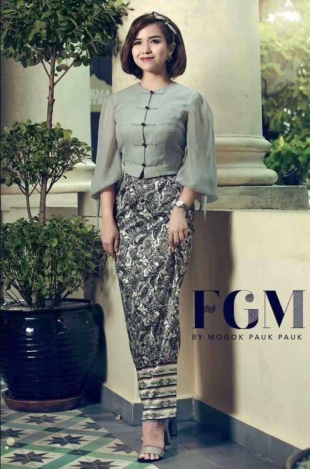 Belle Asiatique Women In 2019 Myanmar Dress Design