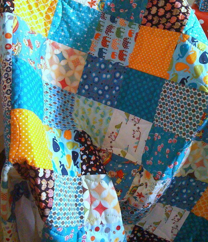 Pour réaliser un joli plaid patchwork , le tuto