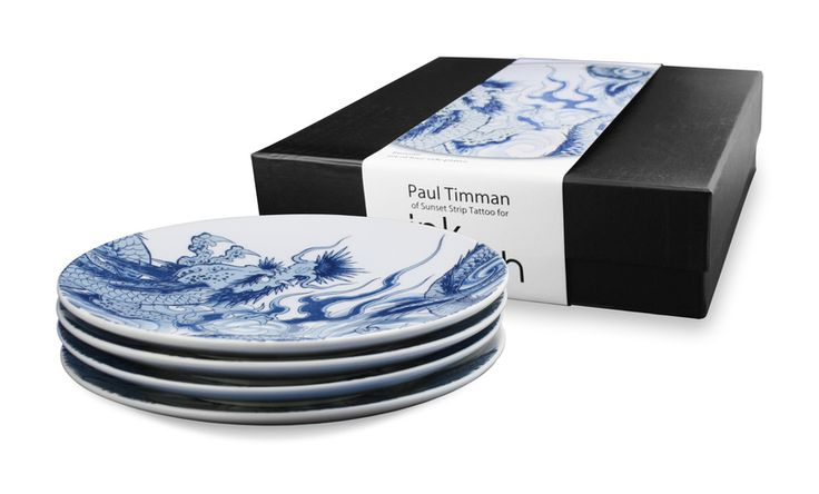 Irezumi by Paul Timman 4 Side Plate Gift Set