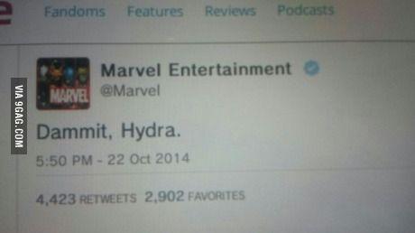 Marvel's reaction to the Avengers 2 leaked trailer.