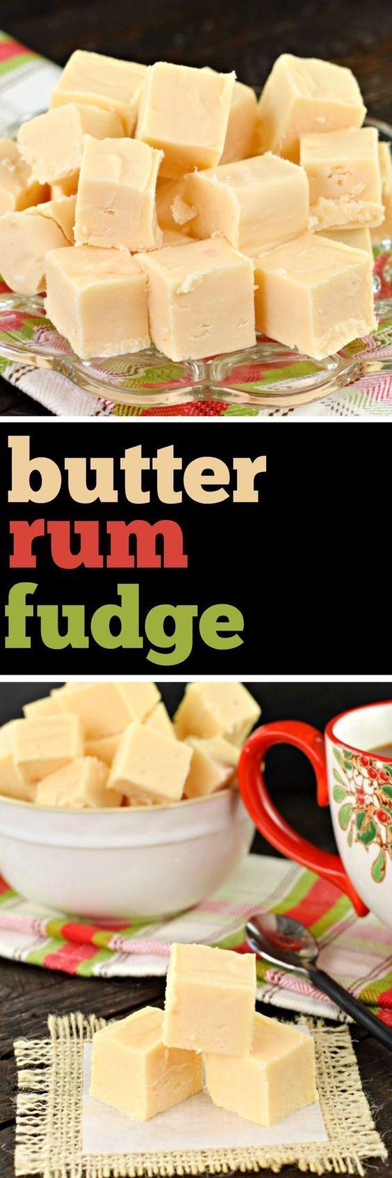 Butter Rum Fudge recipe #candy #fudge #christmas #recipe