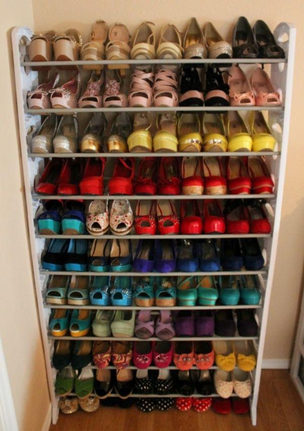 un haut range chaussures mural pour plusieurs chaussures