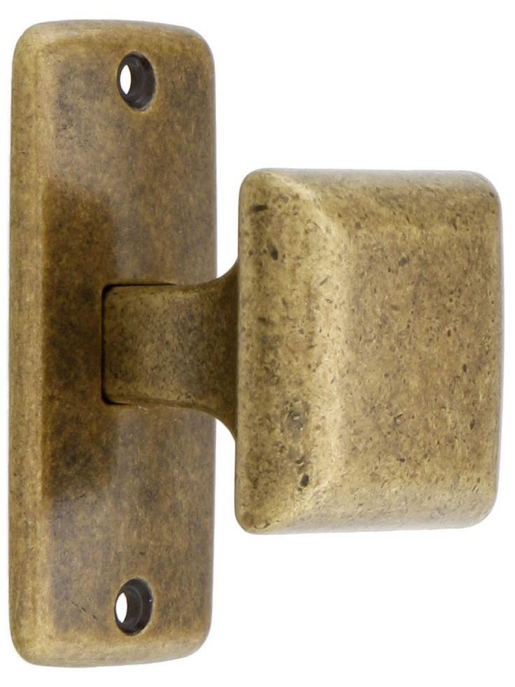 Mission square cabinet knob with rectangular backplate - Dresser drawer pulls with backplate ...