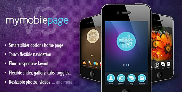 My Mobile Page V3 CSS/Html