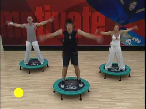 You Tube Rebounding - Complete Body Workout Section 1 ( MUSIC not loud enough but great workout)