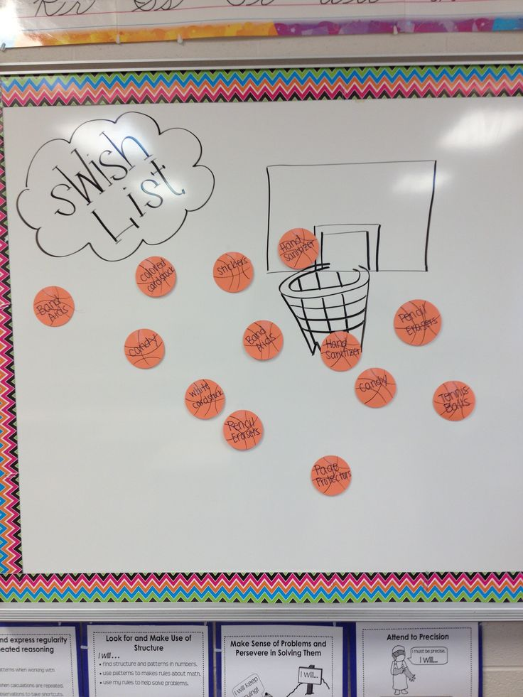 basketball themed wish list :) for open house/meet the teacher night