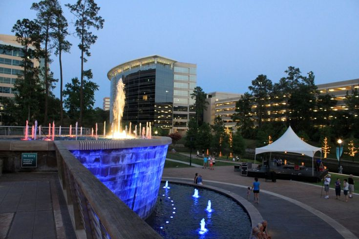 Waterway Square, The Woodlands TX  The community holds many holiday festivals and live music nights in this area.