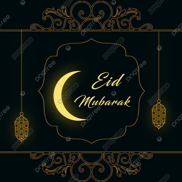 Eid Mubarak Graphic With Moon Royal Luxury Golden Png Transparent Clipart Image And Psd File For Free Download Eid Mubarak Eid Mubarak Greeting Cards Card Illustration