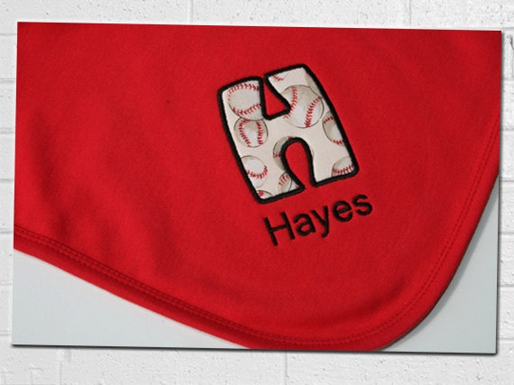 Baseball Baby Blanket  Personalized with Name by ErinsExpressions, $26.99