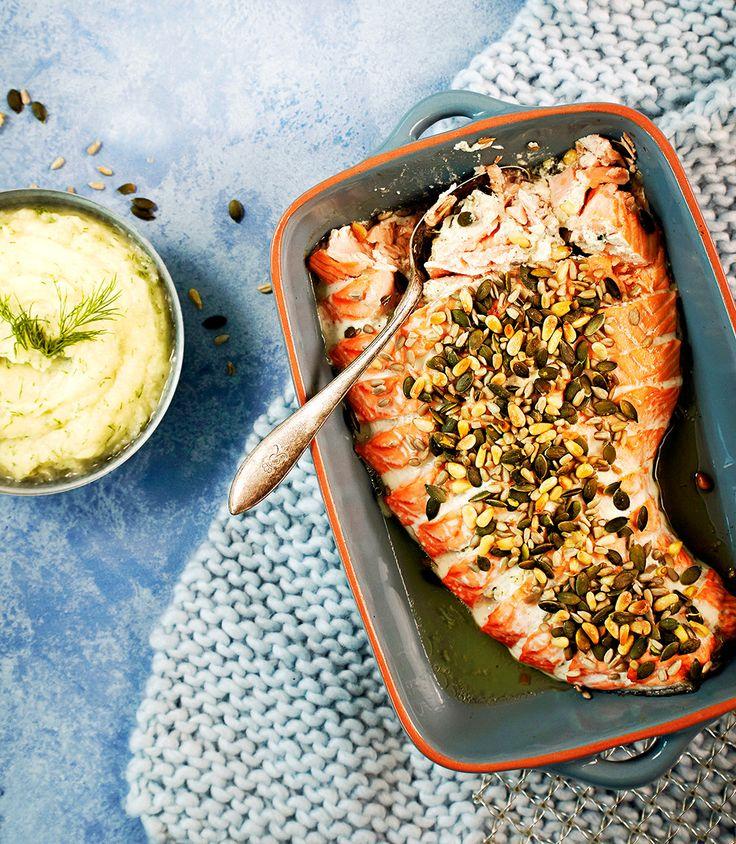 Uunilohi ja kukkakaalipyree | K-ruoka #kaali