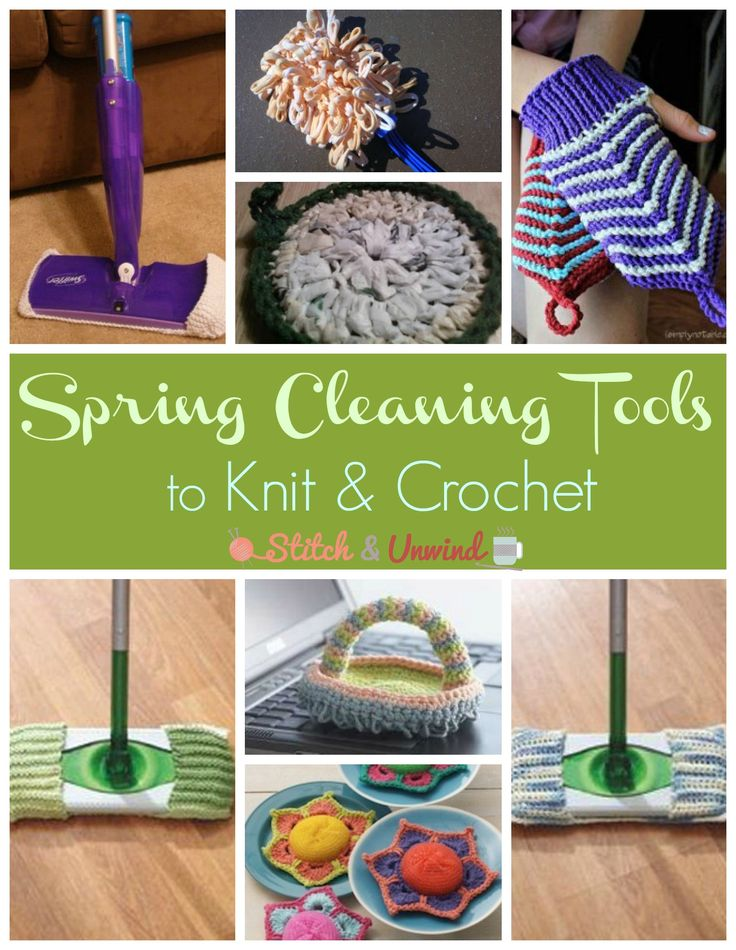 Spring Cleaning Tools: Earth Friendly Free Crochet Patterns for reusable tools to save you money.