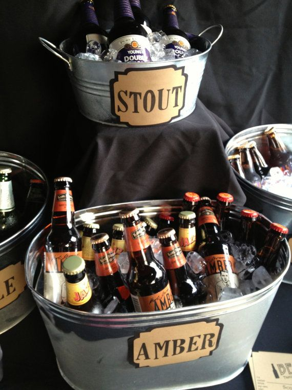 This is for a beer tasting party but I love the idea for any party where there is a selection of beer
